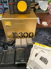 Nikon D D300 12.3MP Digital SLR Camera - Black with Accessories