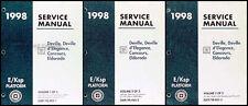 1998 Cadillac Deville and Eldorado Shop Manual 3 Volume Set Repair Service Books