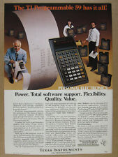 1978 Texas Instruments TI 59 Calculator Software Modules vintage print Ad
