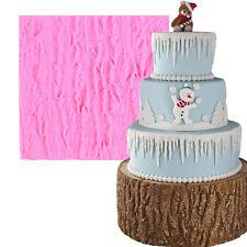 Large Tree Bark Line Texture Fondant Cake Mold Food Grade Silicone DIY Cake Tool