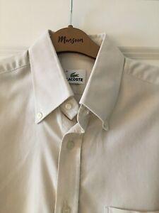 Mens Lacoste Beige Shirt, size 41