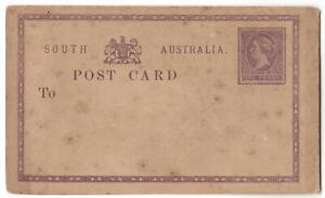 RARE VINTAGE SOUTH AUSTRALIA POST CARD PRE-STAMPED PURPLE QUEEN VIC 1d STAMP