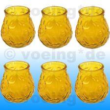 6x Anti-Insekten-Kerzen Citronella im dekorativen Glas gegen Mücken 7 x 4,5 cm