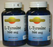 L-Tyrosine 500mg Energy-Chronic Fatigue-Focus-Depression 400 caps 12 Month Suppl
