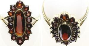 Granatstein Ring, Gold 333, 3,5g, 53 Ringgröße sehr guter Zustand