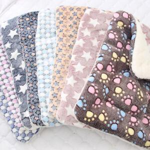 Pet Mat Paw Prints Cat Dog Puppy Fleece Soft Warm Blanket Bed Cushion Mattress✅