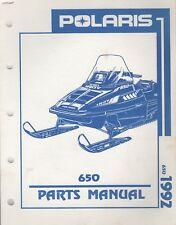1992 POLARIS SNOWMOBILE 650 INDY PARTS MANUAL 9912131 (133)