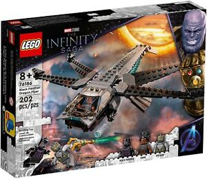 LEGO@ Super Heroes Black Panther Dragon Flyer (76186) -Fast Dispatch Free P&P