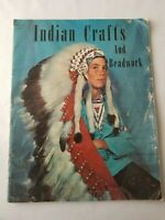 Vintage Indian Crafts and Beadwork Instruction Booklet 1st Revision