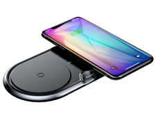 Baseus 10W dual wireless charger desktop base for iPhone XS XR X plus Samsung s9