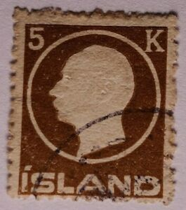 Iceland CLASSIC 1912 5k brown top value FU. €200.