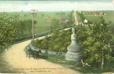 Frederick MD Horse Carriage meets Bicycle on the Jug Bridge 1912