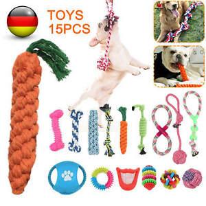 15x Set Hunde Spielzeug aus Seil Kauspielzeug Pet Dog Toy Hund Welpen Kauen