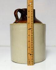 "Vintage Stoneware Crock Jug Widemouth Moonshine Whiskey appx 9.5""  5lb 11oz"