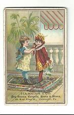 Old Trade Card Harnish & Co Dry Goods Carpets Boots Shoes Lancaster PA Doll