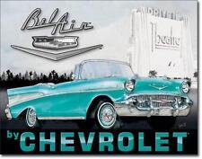 1957 Chevy Bel Air Cabrio Chevrolet Metall Deko Schild