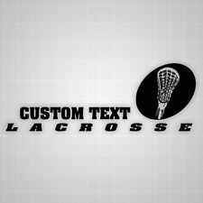 Lacrosse head vinyl wall sticker,custom lacrosse team lettering vinyl wall decal