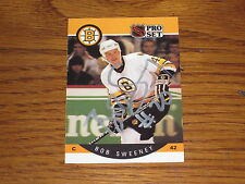 BOB SWEENEY AUTOGRAPHED 1990-1991 PRO SET CARD-BRUINS