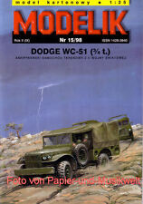 Modelik 15/98 - Dodge WC-51 (3/4t.) - 1:25