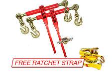 5/16 Transport Hauling Load Trailer 2 Ratchet Binders Free Wire J Ratchet Strap