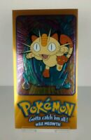 1999 Topps Series 1 Pokemon TV Animation Edition Meowth Oversized Chrome Card