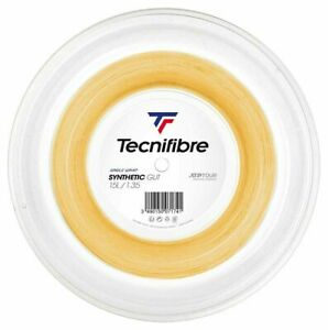 TECNIFIBRE SYNTHETIC GUT TENNIS STRING - 1.35MM 15G - 200M REEL - GOLD - RRP £80