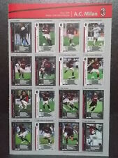 Panini WCCF 2006-07 AC Milan Complete 16 cards set