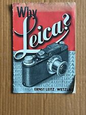 Why Leica , Paper Booklet, 1932