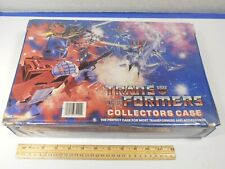 1984 HASBRO TRANSFORMERS CARRY CASE w/TRANSFORMERS, GOBOTS, & PARTS LOT*