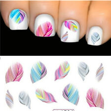 Fashion Water Transfer Beauty Feature Nail Art Rainbow Dreams Decal Sticker Cute