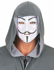 Anonymus Maske Karnevalsmaske weiss-schwarz - Cod.71006