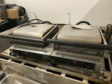 Star Gx20ig Double Commercial Panini Press With Cast Iron Grooved Plates 208 240v