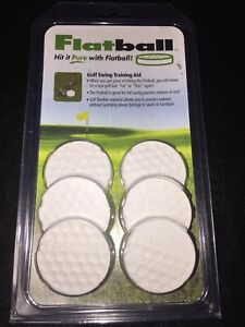 Flatball Golf Swing Training Aid. Made in USA