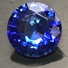 Natural 0.57 Carat 4.9mm Round Blue Sapphire Genuine Loose Gemstone