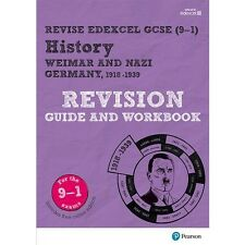 REVISE Edexcel GCSE 9-1 History Weimar Nazi Germany Revision Guide Study