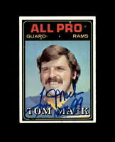 Tom Mack Hand Signed 1974 Topps Los Angeles Rams Autograph