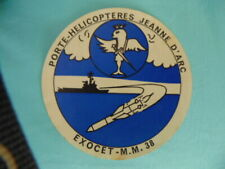AUTOCOLLANT  PORTE-HELICOPTERES JEANNE D'ARC MARINE NATIONALE EXOCET MM38