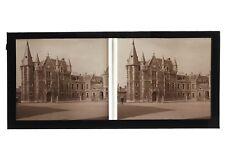 Etampes Hôtel de ville France Photo C49 stereo Plaque de verre Vintage 1927