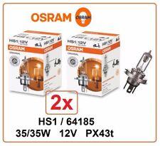 2x OSRAM 64185 HS1 12V 35/35W PX43T Original Roller Motorrad Lampe 2 Stück