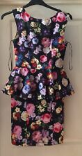Topshop Floral Peplum Style Smooth Feel Dress, Size 10 - Lovely!