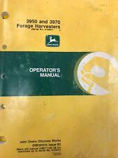 John Deere Operators Manual 3950 & 3970 Forage Harvesters #Ome80925 Used