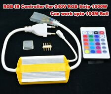 Wireless AC220V-240V RGB 24 Key IR Remote Controller for SMD5050 LED 10mm Strips