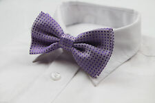 MENS PURPLE POLKA DOT BOW TIE Pretied Adjustable Tuxedo Formal Wedding CHEAP