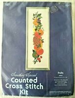Vintage Candamar Fruits Counted Cross Stitch Kit 50037 Something Special