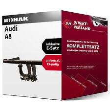 A8 4E (Auto Hak) Anhängerkupplung abnehmbar + E-Satz 13pol universell AHK & ES