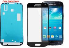 VETRO VETRINO SAMSUNG GALAXY S4 I9500 I9505 NERO BIADESIVO NO TOUCH SCHERMO LCD