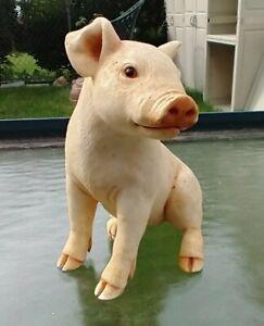 Pig Piggy Piglet Figurine Country Decor Farm Animal