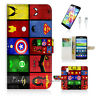 ( For Samsung S5 ) Wallet Case Cover! Superhero Collection P0139