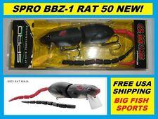 SPRO BBZ-1 RAT 50 Topwater Lure NINJA COLOR NEW! FREE USA SHIPPING! #SRT50Z1NNJ