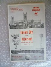 1966 LINCOLN CITY v ALDERSHOT, 15th Jan (League Division 4)
